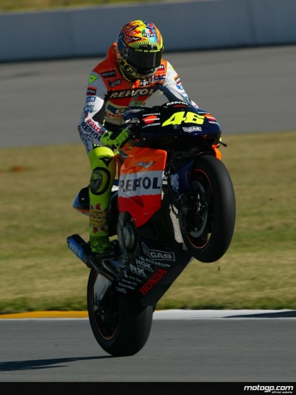 Valentino Rossi Action Shot