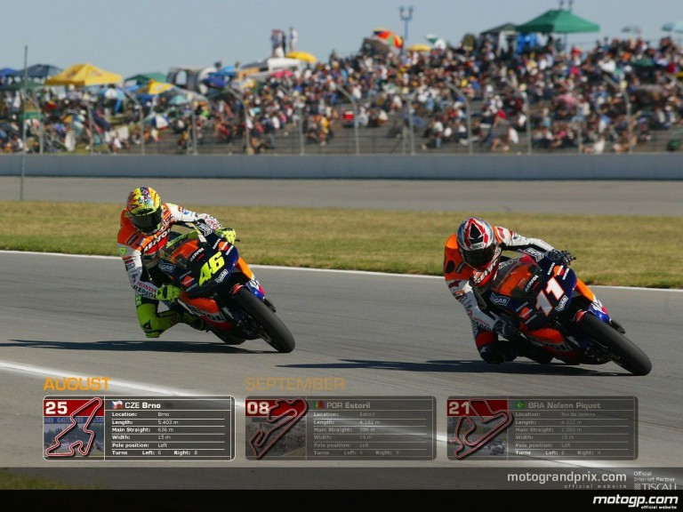 MotoGP Wallpaper Calendar - August