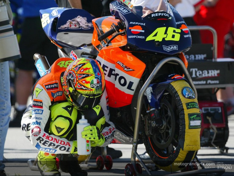 Rossi starting grid
