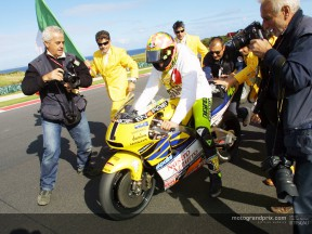 Rossi post race 500