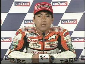 Masao AZUMA interview after the race