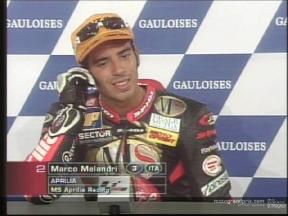 Marco MELANDRI interview after the race