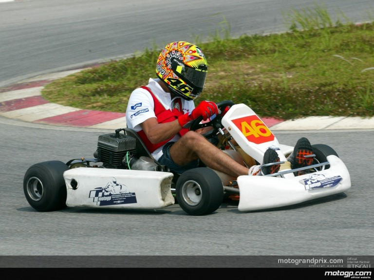 MotoGP riders take rivalry to four-wheels - Photo gallery