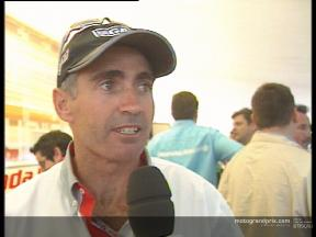 Mick DOOHAN interview after  the race