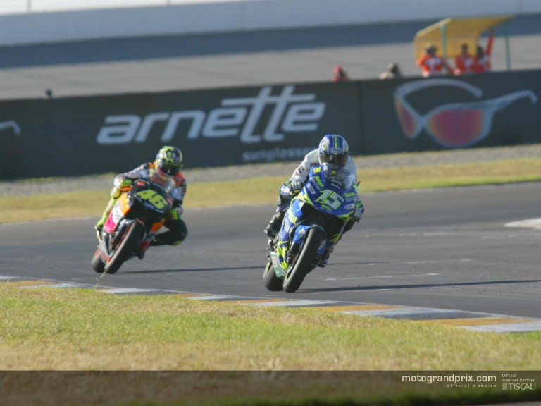 Gibernau and Rossi in Welkom