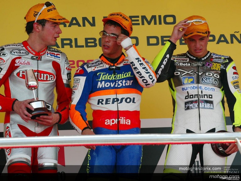 250 podium in jerez