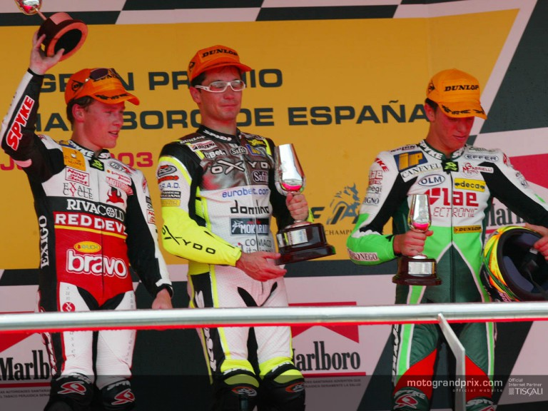 125 podium in Jerez