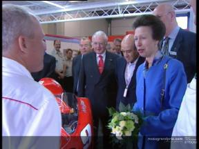 Princess Anne visit MotoGP