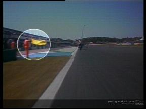 The yellow flag incident with Valentino Rossi