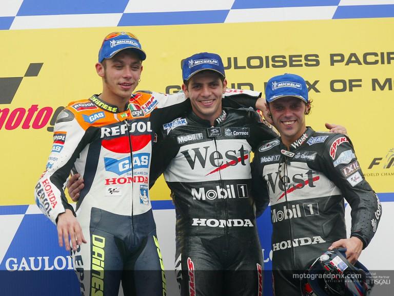 Podium MotoGP Motegi 2002
