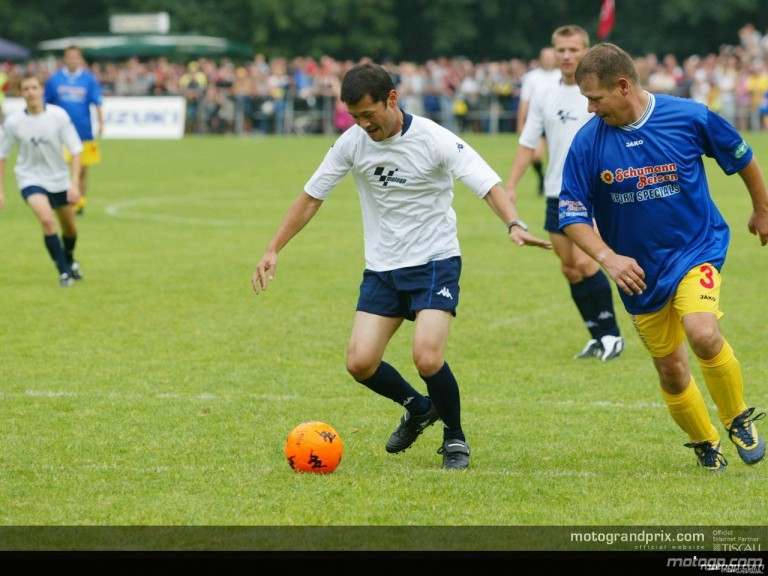 Charity football match with celebrities