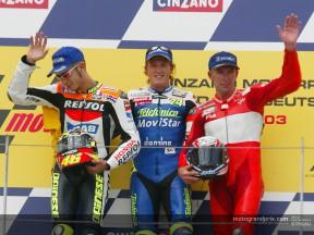 Gibernau podium