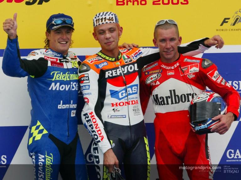 MotoGP podium in Brno