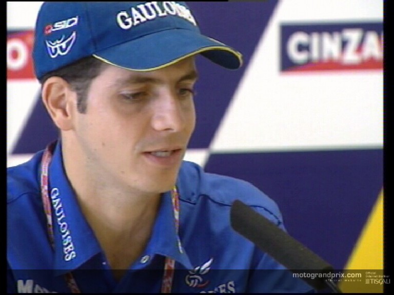 Alex Barros press-conference interview at Rio