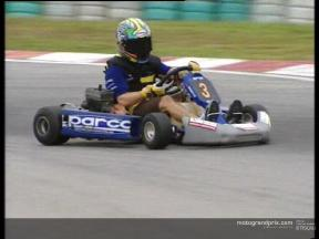 Max Biaggi wins the kart race in Malaysia