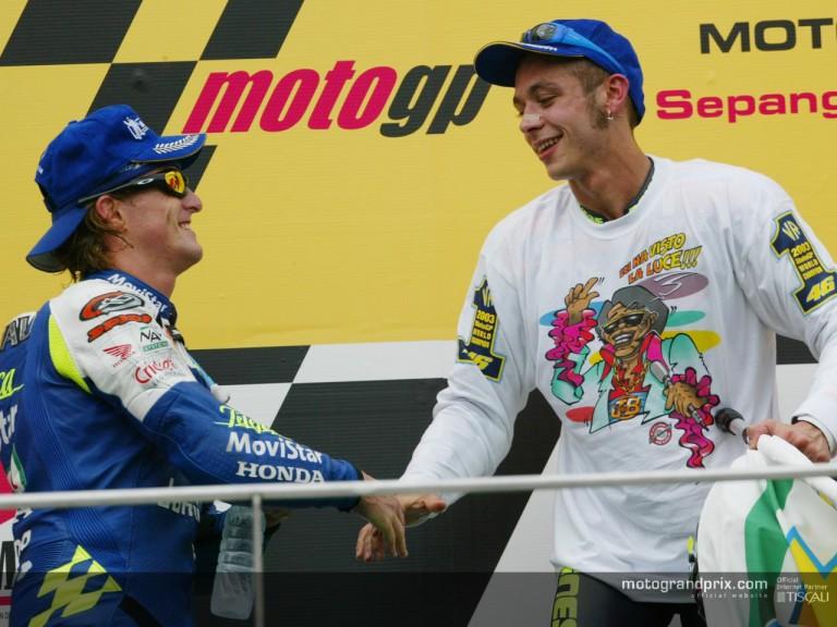 Rossi & Gibernau podium