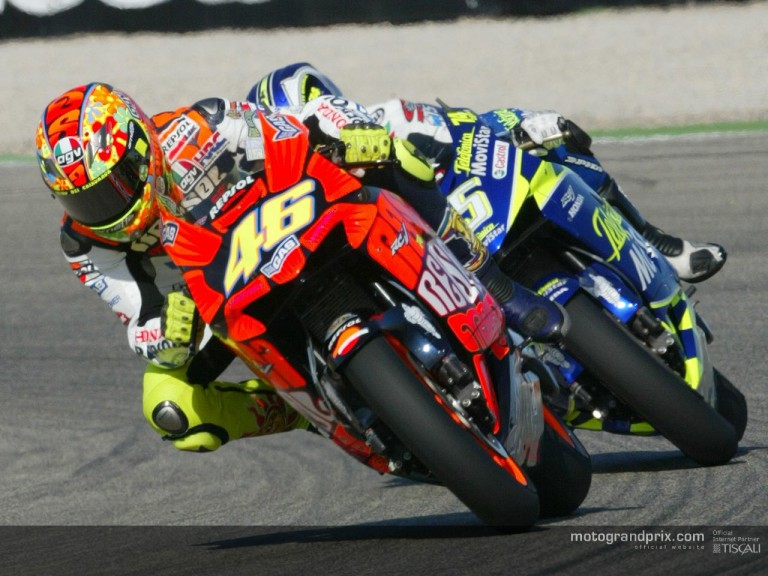 Rossi & gibernau action