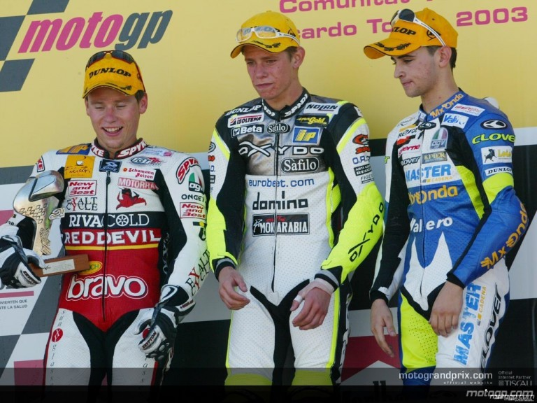 125 podium in valencia