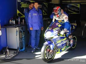 Edwards pit lane test Catalunya