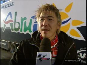 Youichi Ui comments on his first tests with the 250cc Aprilia