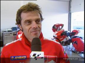 Loris Capirossi interview about the test