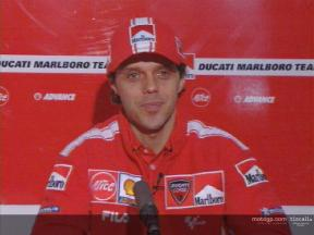 Loris Capirossi on the Ducati Desmosedici GP4
