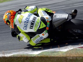 Rossi action 01 Test Sepang
