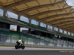 Rossi action 02 Test Sepang