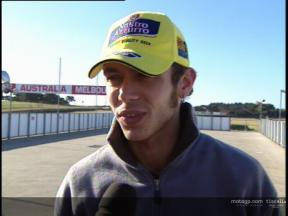 Valentino ROSSI interview - Test Phillip Island
