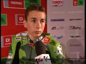 Jorge LORENZO interview at Derbi presentation