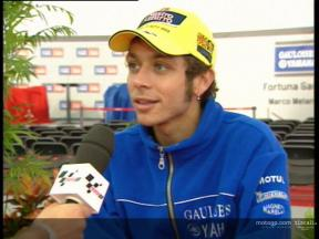 Valentino ROSSI interview at Yamaha presentation