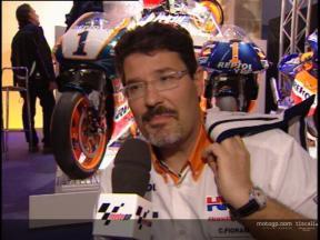 Entrevista de Carlo Fiorani na apresentação da Repsol Honda