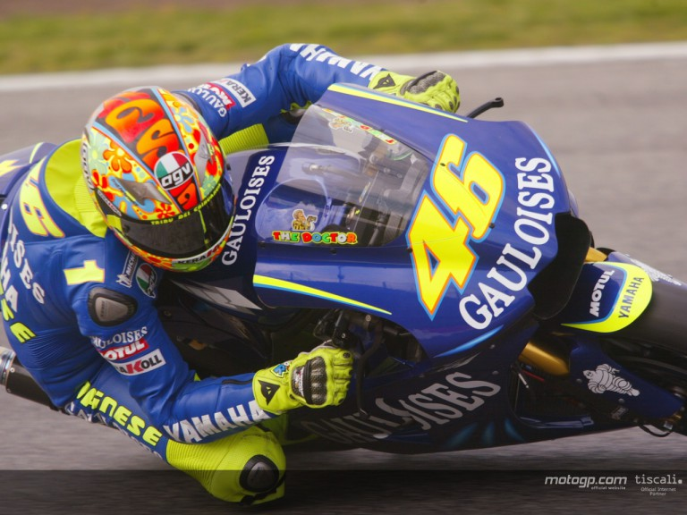 Rossi action Test Catalunya 2004