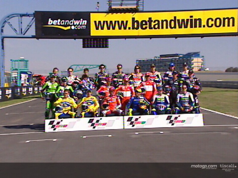 The bikes and riders ready for 2004