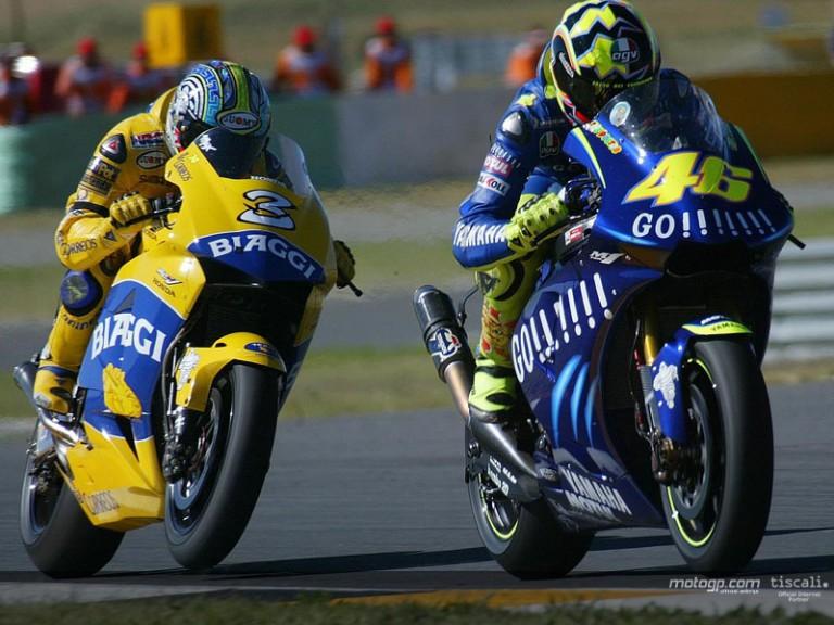 Rossi & Biaggi action