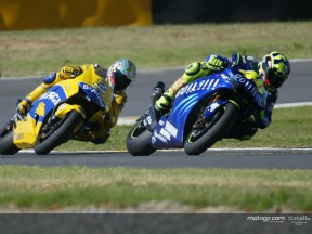 Rossi & Biaggi action 01 Welkom