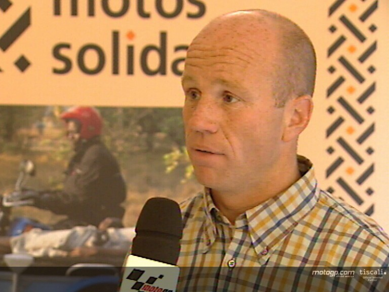 Randy Mamola at Motos Solidarias press conference