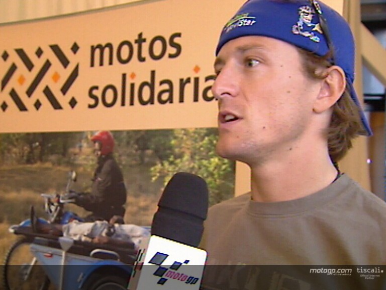 Sete Gibernau at Motos Solidarias press conference