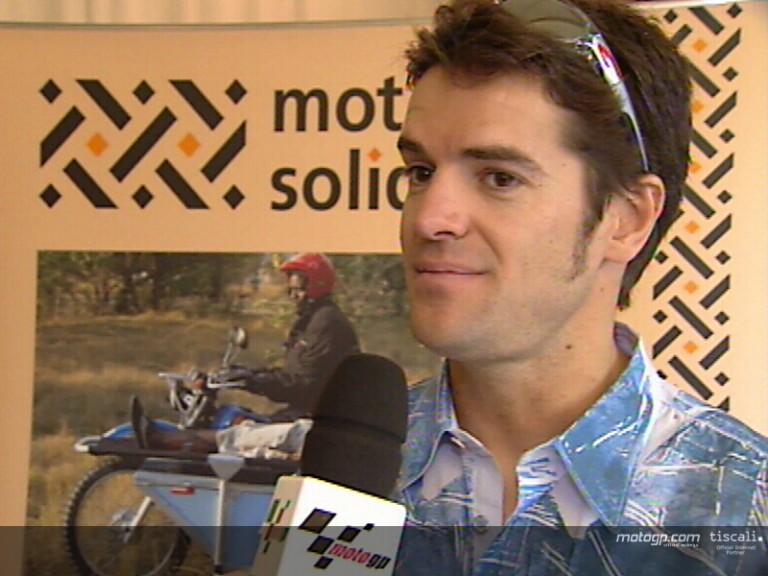 Carlos Checa at Motos Solidarias press conference