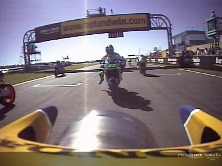 Onboard first lap Capirossi