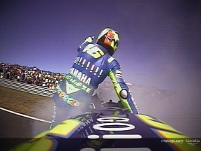 On-board footage of Rossi\'s Lap of Honour