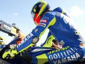 Davide Brivio and Carlo Fiorani on Rossi