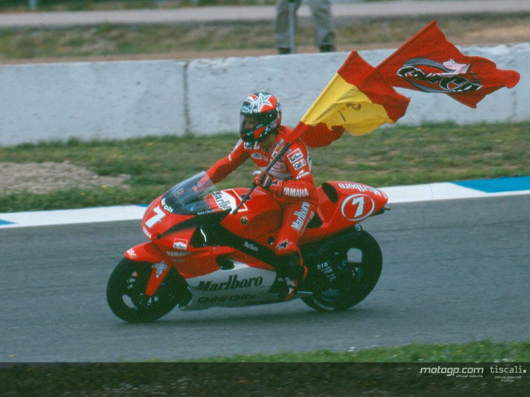 Checa post race Jerez 2000