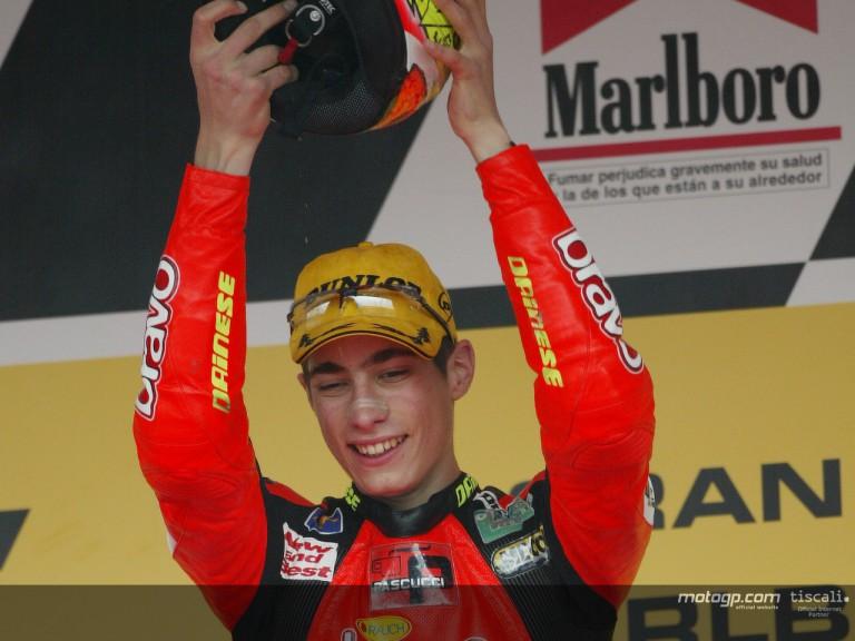 Simoncelli podium Jerez 2004