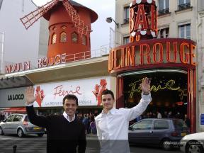 MotoGP stars visit Moulin Rouge