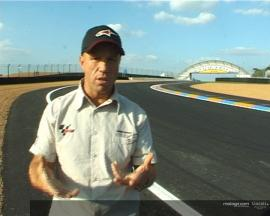 Mamola analyses the Dunlop corner and chicane