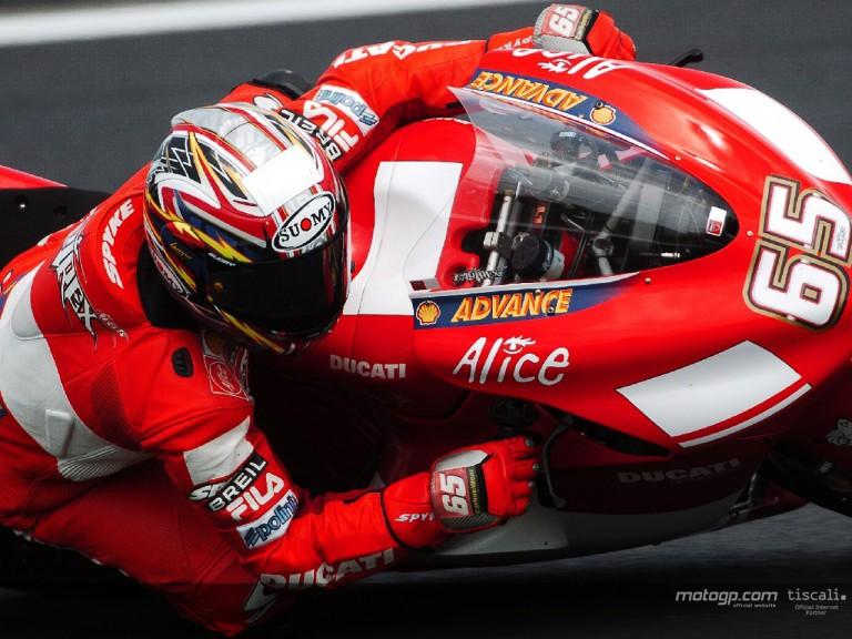 Capirossi action Le Mans