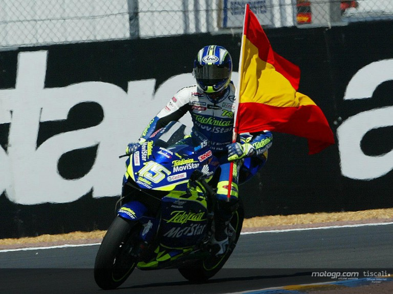 Gibernau  post race Le Mans 2004