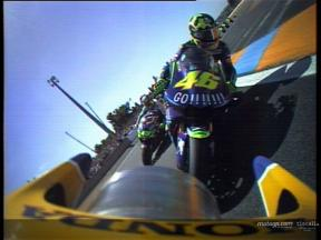 On board with Max Biaggi on his first lap in Le Mans
