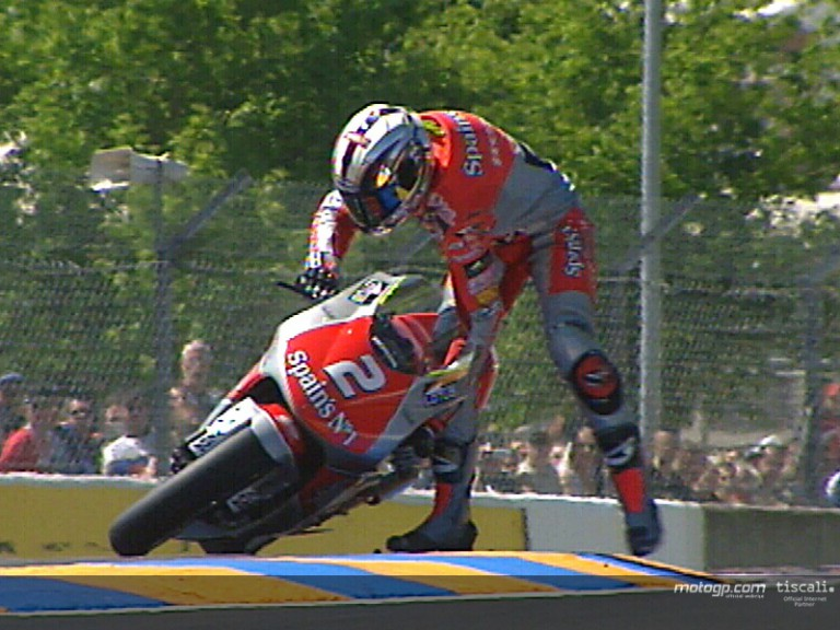 Rolfo crash Le Mans 2004